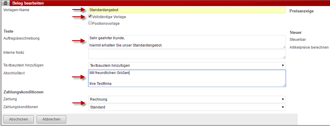 Beleg- und Angebotsvorlagen - AkquiseManager News: Neue Funktionen ...